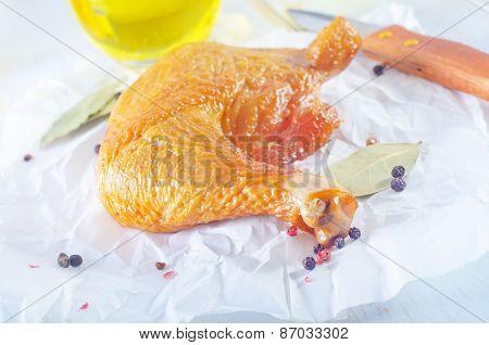 smoked chicken leg