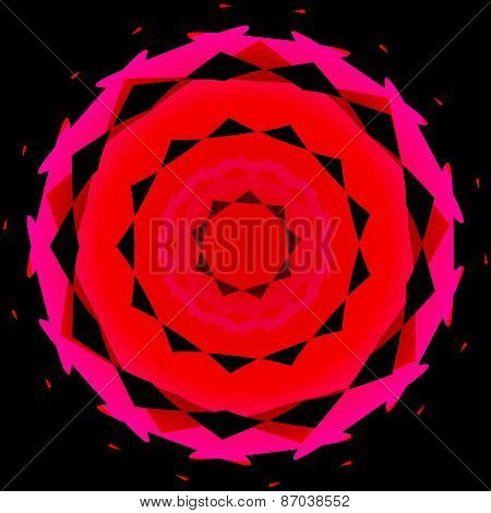 Abstract decorative design element usable as background