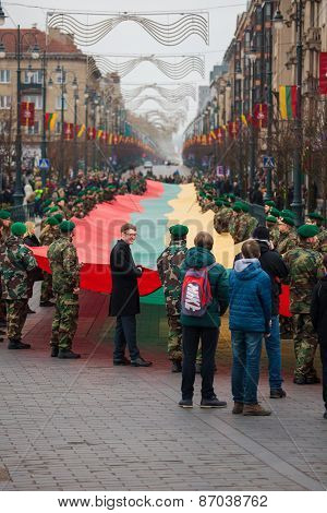 25Th Anniversary Of Its Independence Restoration In Lithuania