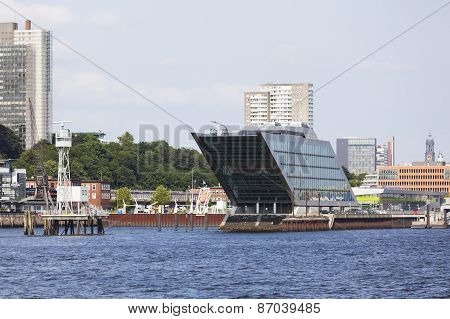 Skyline And Dockland In Hamburg, Germany