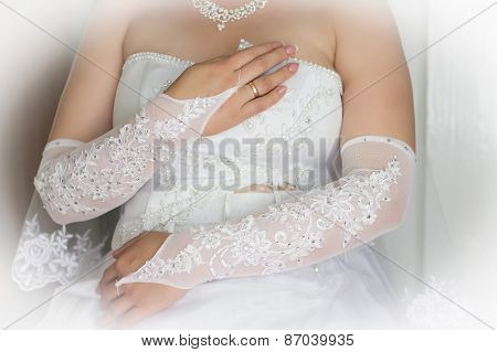 Woman Hands With Wedding Rings