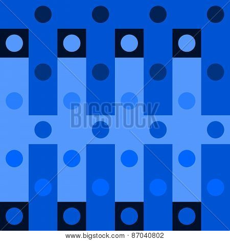 Abstract blue polka dot op art background