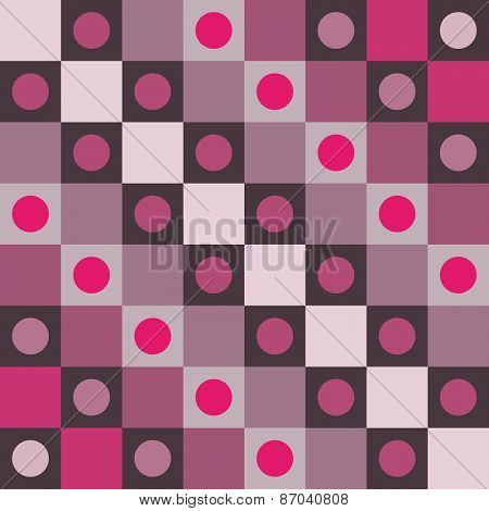 Abstract smoky pink polka dot op art background