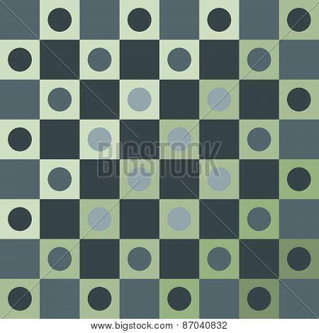 Abstract smoky green polka dot op art background