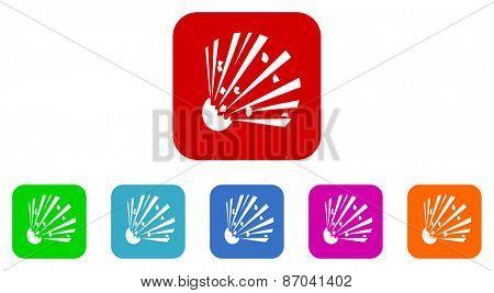 bomb vector icons set
