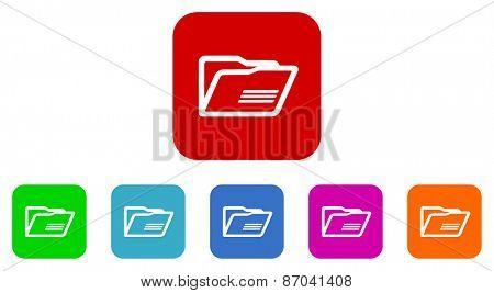 folder vector icons set
