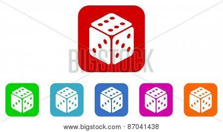 casino vector icons set