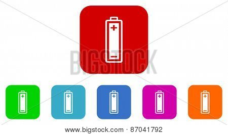 battery vector icons set