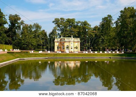 Tsarskoye Selo (Pushkin), Saint-Petersburg, Russia. The Upper Bathhouse Pavillion