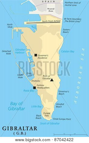 Gibraltar Political Map