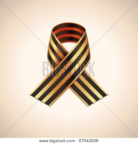 Vector Ribbon of Saint George