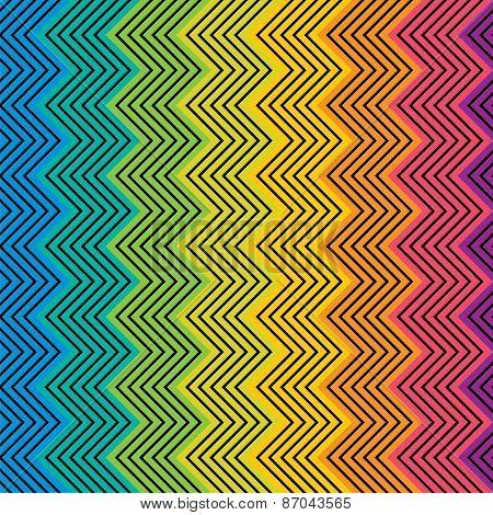 colorful zig zag strippattern