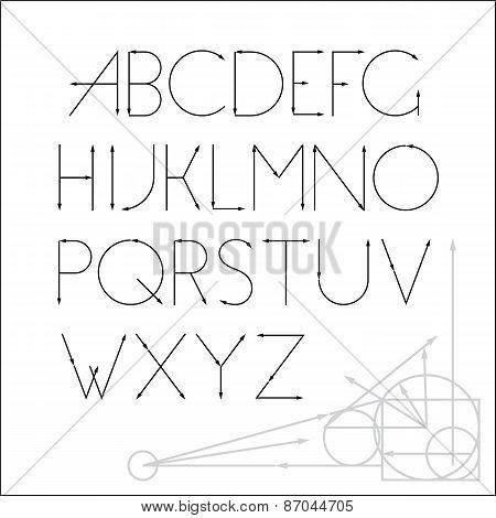 ABC vector font letter design