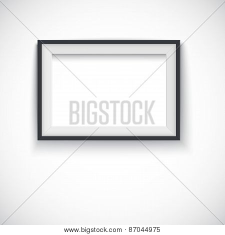 Picture wood frame horizontal , vector for image or text.