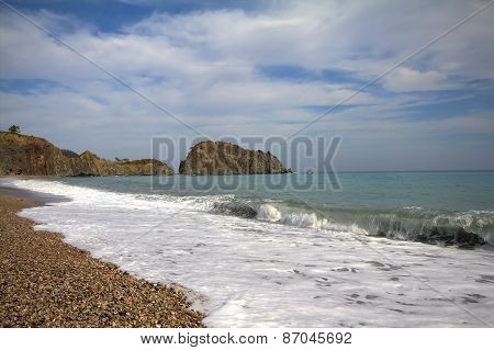 Most Beautiful Pebble Beach Mediterranean Sea
