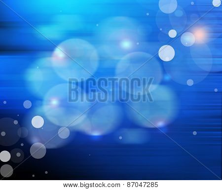 Blue Abstract Light Effect Background