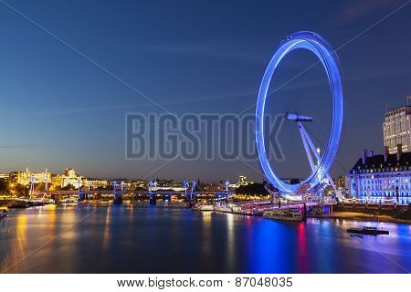 Thames River And London Eye, Editorial