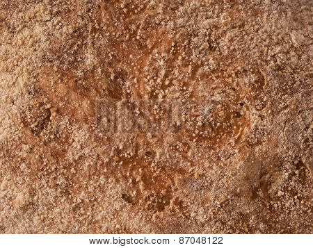 Rustic Artisan Bread Crust Food Background