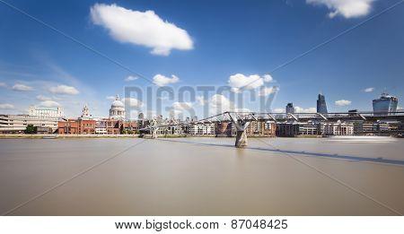 St Pauls Cathedral And Millennium Bridge