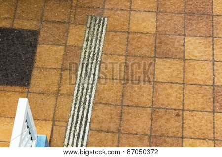 Flooded Tiled Floor