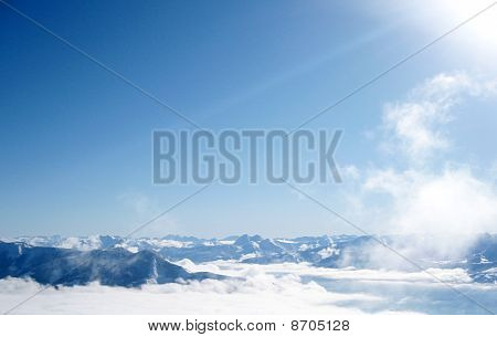 The Alpine mountains