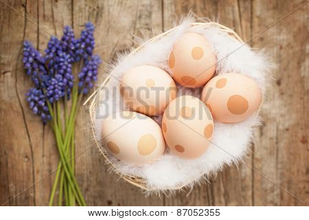 Easter Eggs Decorated With Dots