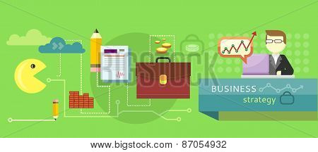 Business stategy concept