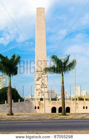 Obelisk in Ibirapuera Park in Sao Paulo, Brazil
