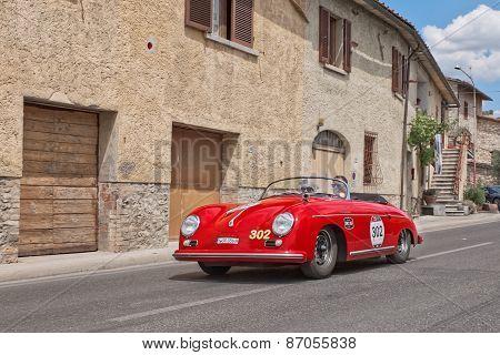 Porsche 356 1500 Speedster (1954) In Mille Miglia 2014