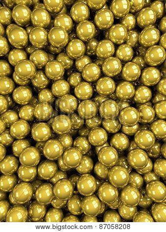 Balls Gold Glossy Vertical