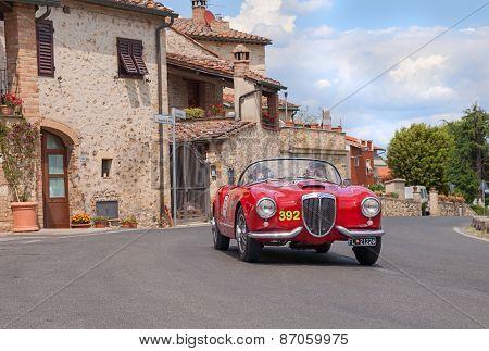 Lancia Aurelia B24 Spider In Mille Miglia 2014