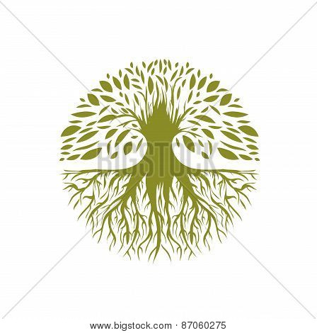Abstract Round Tree Logo