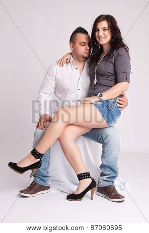 Young Couple In Studio