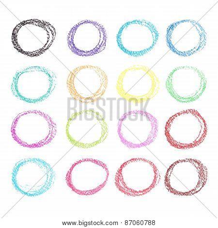 Crayon circle set.
