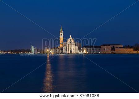 Church Of San Giorgio Maggiore At Dusk