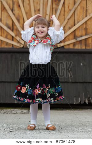 Little Girl In Traditional Costume