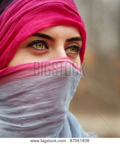 Muslim Woman Outdoor