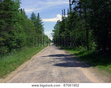 Rural Road in Harbor Springs, Michigan