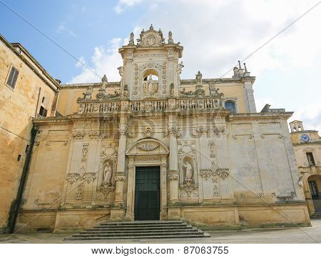 Cathedral Of The Assumption Of The Virgin Mary In Lecce, Italy