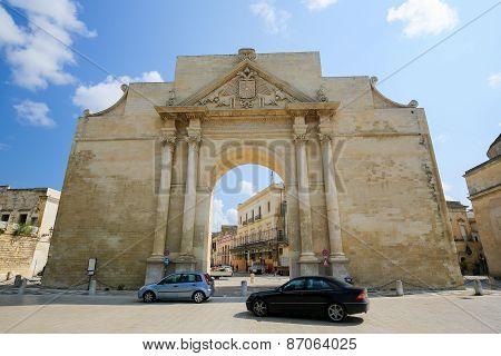 Neapolitan Gate Or Porta Napoli In Lecce, Italy