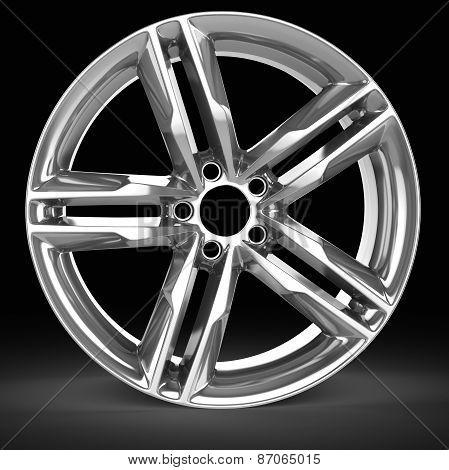 3D Detailed Wheel Rim