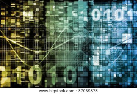 Digital Image Background with Binary Code Technology background