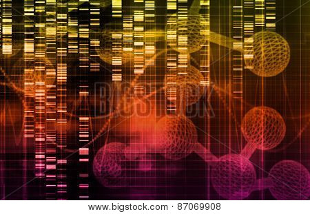 Genetic Science Research as a Medical Abstract Art background