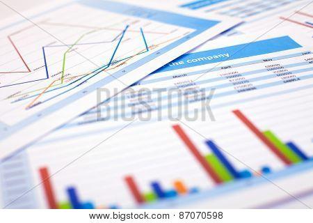 Business Document. Finance Data
