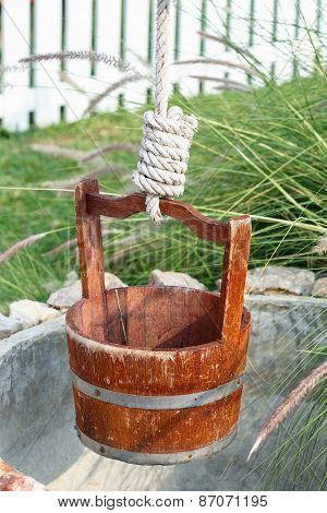 Water Well With Pulley And Bucket