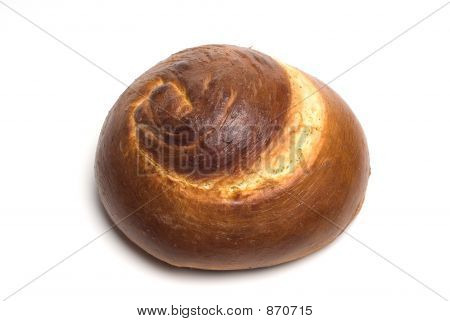 Isolated Spiral Challah Bread