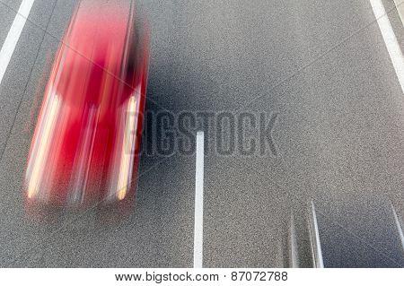 Red Speeding Car