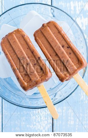 Adzuki Coconut Popsicle