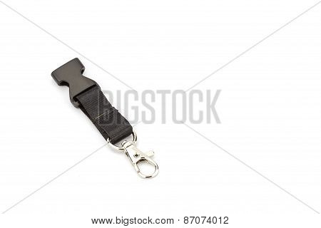 Lanyard Cord With Chrome Metal Hook