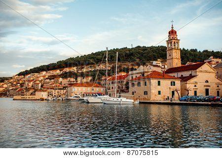City Bol view on Brac island, Croatia
